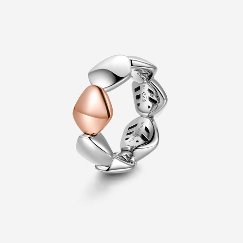Ring INCIPIT. 925‰ sterling silver and 9 kt rose gold ring