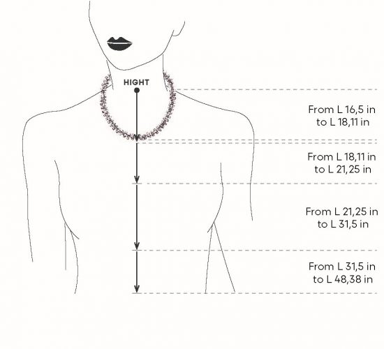 size chart for necklaces