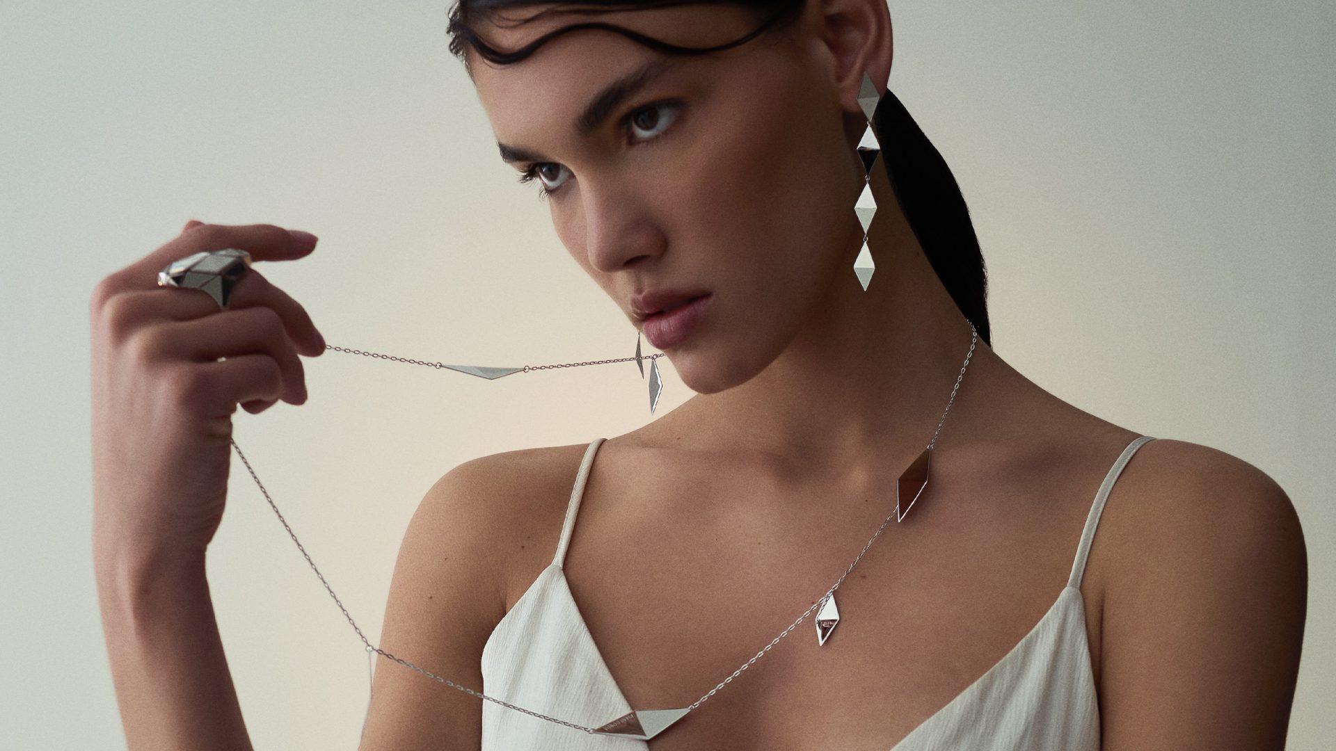 woman with pianegonda necklace